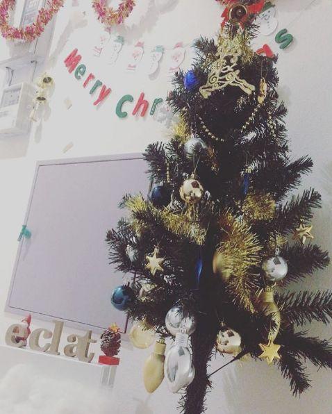 クリスマス仕様のエクラエントランス